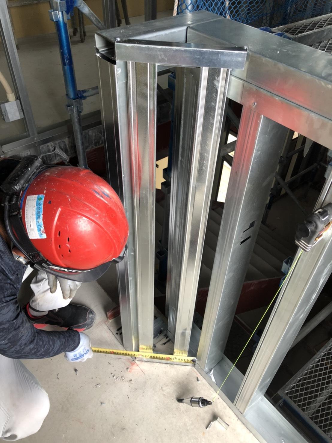 新築LGS工事 階段室2